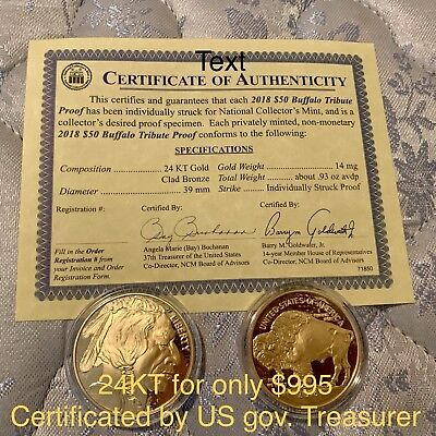 2018 $50 American Gold Buffalo 0.93oz (One For Sale Only)