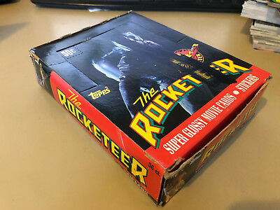 The Rocketeer - Wax Pack Trading Card BOX - 36 Packs by Topps 1990