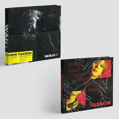 SHINee TAEMIN [WANT] 2nd Mini Album 2 SET (WANT+MORE). CD+Card+Photo Stand K-Pop