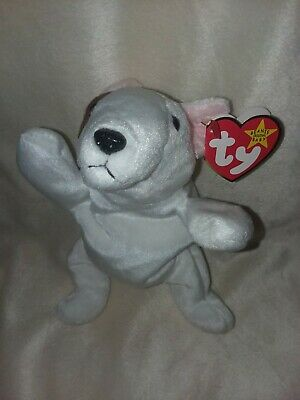 TY BEANIE BABIES BUTCH the Pit Bull Dog - Baby - Brown   White ... eafe739682a9
