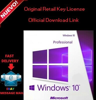 Win 10 Pro 32/64 Instant Multilanguage Original License Key