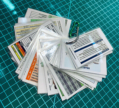 Paramedic Reference Clinical Cheat Cards (30 cards) (AU/NZ)