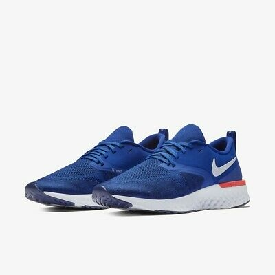 NIKE Odyssey React Flyknit 2 AH1015-400 Indigo/Blue/Red New Mens Running Shoes
