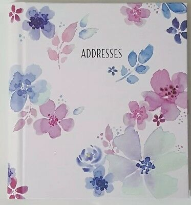 """Mead At-A-Glance Fashion Compact Telephone Address Book 5 1/2"""" x 6 1/4"""" (Floral)"""