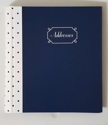 "Mead At-A-Glance Fashion Compact Telephone Address Book 5 1/2""x6 1/4"" (Blue Dot)"