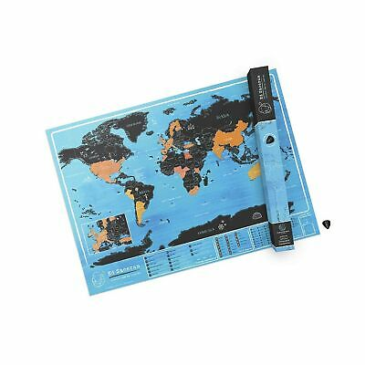 Ed Sheeran Official World Scratch Map – World Scratch Off Map – Unique & Colo...
