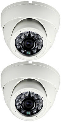 2 Camera Sony IMX323 2.4 MP 3.6mm 3M Wide Angle Lens 90ft. IR Range Vandal Proof