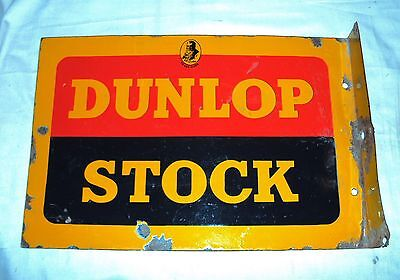DUNLOP STOCK Double sided 1940 s VINTAGE Porcelain Enamel Sign GOOD  CONDITION 7ffa8a35d27