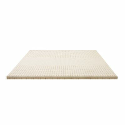 Giselle QUEEN Bedding Pure Natural Latex Mattress Topper 7-Zone 5cm Thick Breath