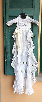 Vintage vestito da battesimo e federa cuscino baptism dress and pillowcase