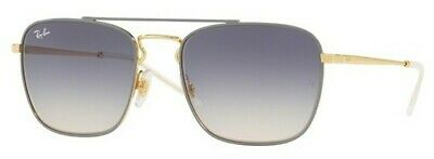 d93640bc004 RAY-BAN SUNGLASSES 3588 9063I9 Gold Top On Light Grey Light Brown ...