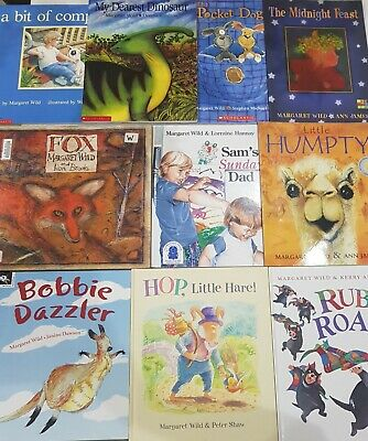 Bulk Lot 10 Kids Picture Books Margaret Wild, Paperback, VGC Australian Author