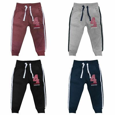 Boys Fleece Jogging Bottoms Girls Children School P.E Joggers Tracksuit Bottom