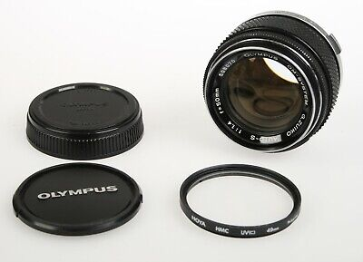 OLYMPUS G.Zuiko Auto-S 50mm 1.4 50/1.5 Prime Lens+Caps, UV Filter JAPAN