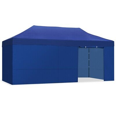 Carpa plegable 3x6m impermeable eventos plegado facil color Azul Gazebo -McHaus