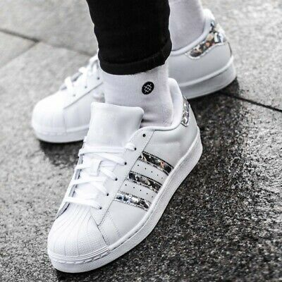 Adidas Originals Superstar J F33889 Leather Trainers White