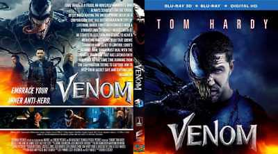 VENOM 3D (2018) blu-ray region free  **Newest Release**