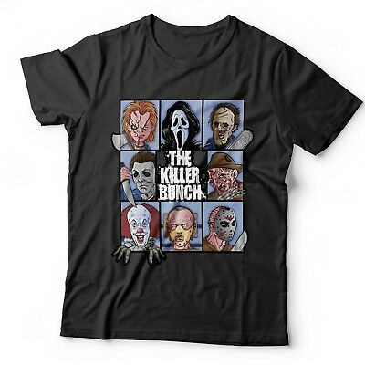 The Killer Bunch Horror T Shirt Childs Play Friday 13Th Halloween It Pennywise