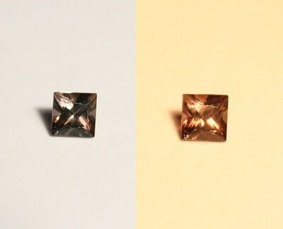 0.35ct BiColour Colour Change Axinite - Rare Gem Quality With Excellent Clarity