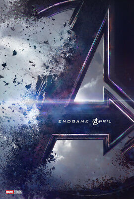 AVENGERS ENDGAME MOVIE POSTER 2 Sided ORIGINAL INTL Advance VF 27x40 BRIE LARSON
