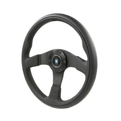 Nardi Twin Leather Steering Wheel 350Mm Black Leather Black Spokes