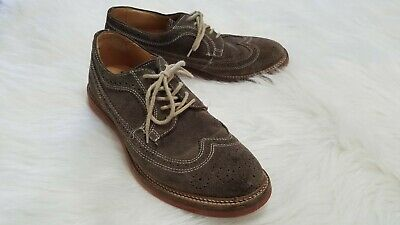 89ebc697a Nordstrom 1901 Brown Leather Suede Derby Oxford Shoes - Men's Size 7 ...