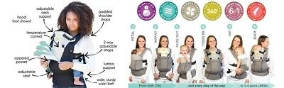 LILLEbaby 6 in 1- 360° Ergonomic Baby Carrier – All Seasons (Stone)