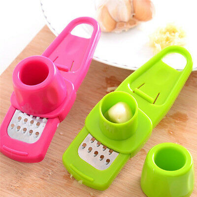 Multifunction Stainless Steel Pressing Garlic Slicer Cutter Shred Kitchen Tool