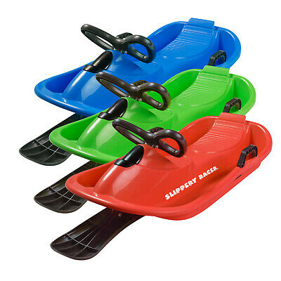 Slippery Racer Downhill Derby Kids Snow Sled with Steering Wheel