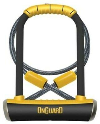 OnGuard Pitbull DT Shackle U-Lock Plus Cable - Gold Sold Secure 115 x 230 x 1...