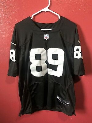NIKE On Field NFL Jersey Oakland Raiders Amari Cooper  89 -Silver   Black  Medium 075be4197