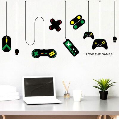 2X Playstation Game Console Boys Bedroom Kids Wall Art Stickers Decal Vinyl Room