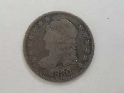 1830 Capped Bust Half Dime silver 5c Type Coin 13 stars