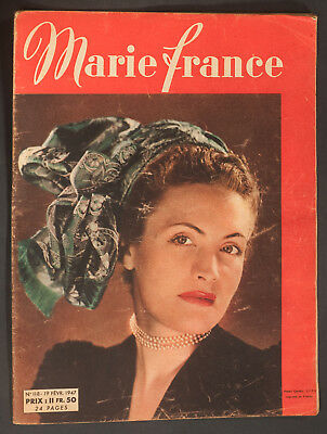 'marie-France' French Vintage Magazine 19 February 1947