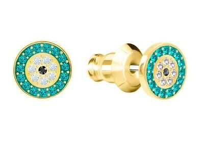 Swarovski Crystal Luckily Pierced Earrings, Multi-Colored, Gold Plating 5468914