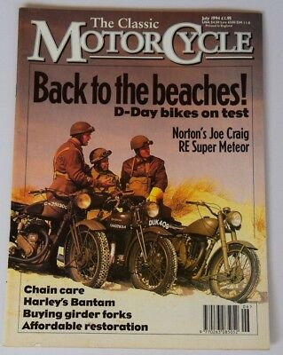 "Classic Motorcycle July 1994  ROYAL ENFIELD ""Meteor"",HARLEY DAVIDSON ,MZ ,COTTON"