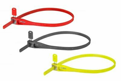 Hiplok Z Lok Zip Tie Style Cable Locks - Twin Pack - Gray, Lime, Red Colors