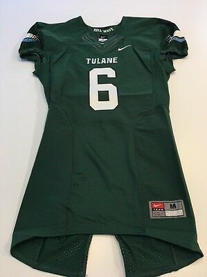 a98a3efd2 TULANE UNIVERSITY GAME Used Football Jersey White Size M  6 ...
