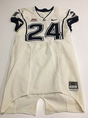 CONNECTICUT UNIVERSITY GAME Used Football Jersey Size 42  8 Uconn ... 59148e71c