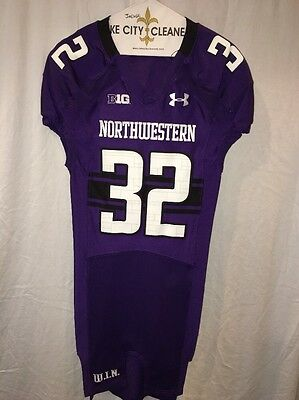 c788c9010 Game Worn Northwestern Wildcats Football Jersey Used Under Armour  32 Size  38