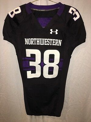 b1c636085 GAME WORN USED Northwestern Wildcats Basketball Jersey Under Armour ...