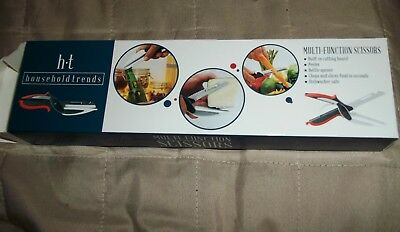 "Stainless Steel 2-in-1 Multi-Function Knife Kitchen Scissors 4 1/4"" Blade NEW"