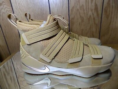 official photos fdab2 c540a Authentic NIKE LEBRON SOLDIER XI 11 SFG Size 12 897646 700 WHEAT GOLD
