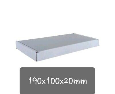 WHITE SHIPPING BOXES POSTAL POSTING MAILING PACKET PACKAGING PARCEL 190x100x20MM