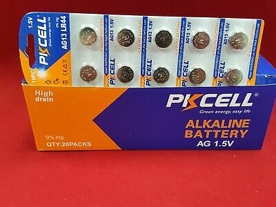 10 PCS  PKCELL AG13 LR44 1.5V Alkaline button cell battery Ship From USA