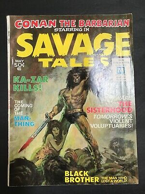 Savage Tales #1 Early Barry Smith Conan 1st app of Man-Thing Marvel 1971