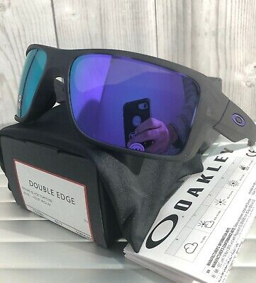 4b8d54add1 New Oakley Double Edge OO9380-04 Matte Black Tortoise   Violet Irdium  Sunglasses
