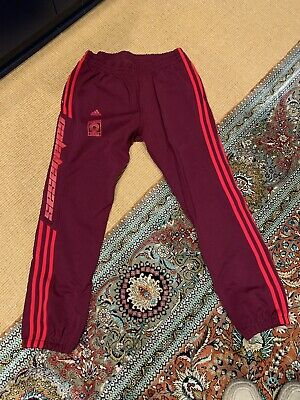 149b8909a ADIDAS YEEZY CALABASAS Track Pants Maroon Size Large 100% Authentic ...