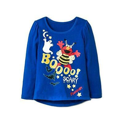 Sesame Street Elmo Halloween Glow in The Dark Long Sleeve Blue Shirt