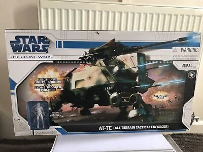 Star Wars Clone Wars AT-TE (All Terrain Tactical Enforcer) Sealed Contents New
